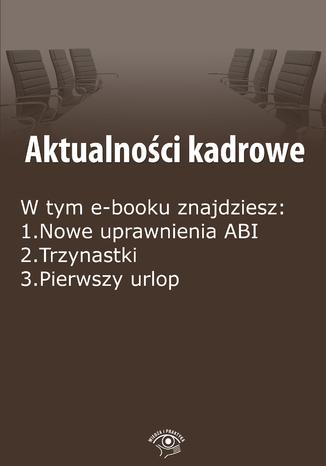 Okładka książki/ebooka Aktualności kadrowe, wydanie luty 2015 r