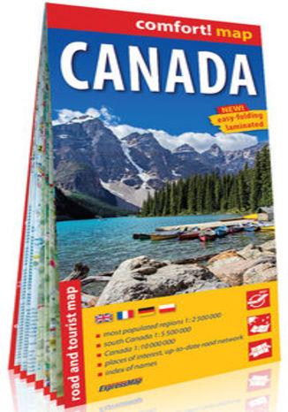 Okładka książki/ebooka Kanada laminowana mapa samochodowo-turystyczna