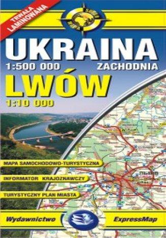 Okładka książki/ebooka Ukraina Zachodnia, Lwów. Mapa laminowana
