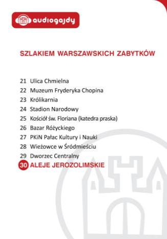 Okładka książki/ebooka Aleje Jerozolimskie. Szlakiem warszawskich zabytków