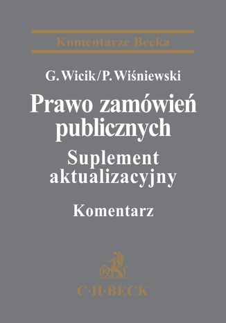 Okładka książki/ebooka Prawo zamówień publicznych. Komentarz. Suplement aktualizacyjny