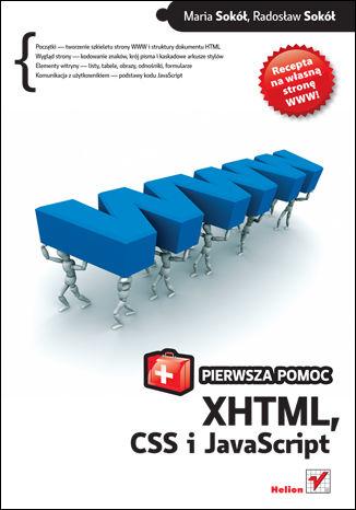 Okładka książki/ebooka XHTML, CSS i JavaScript. Pierwsza pomoc