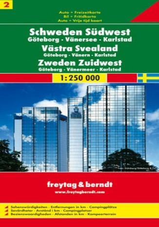 Okładka książki/ebooka Szwecja Południowo-Zachodnia (cz.2). Mapa Freytag & Berndt 1:250 000