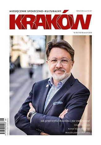 Okładka książki/ebooka Miesięcznik Kraków, wrzesień 2019