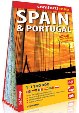 Okładka książki/ebooka Hiszpania i Portugalia (Spain & Portugal); laminowana mapa samochodowa 1:1 100 000
