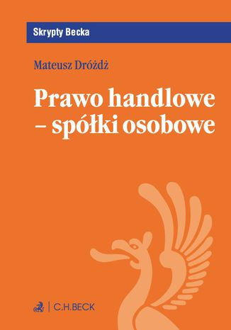 Okładka książki/ebooka Prawo handlowe - spółki osobowe