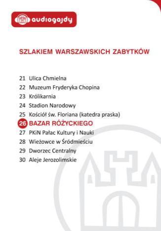 Okładka książki/ebooka Bazar Różyckiego. Szlakiem warszawskich zabytków