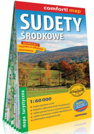 Okładka książki/ebooka Sudety Środkowe laminowana mapa turystyczna1:60 000