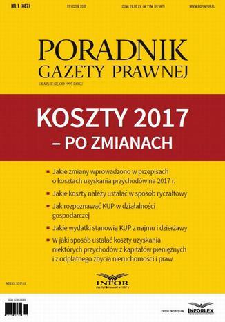 Okładka książki/ebooka PGP 1/2017 Koszty 2017  po zmianach