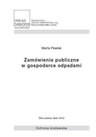 Okładka książki/ebooka Zamówienia publiczne w gospodarce odpadami