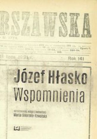 Okładka książki Józef Hłasko. Wspomnienia
