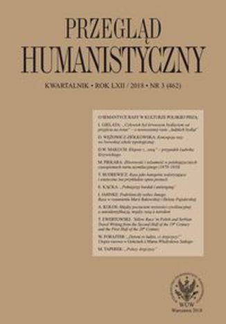 Okładka książki Przegląd Humanistyczny 2018/3 (462)