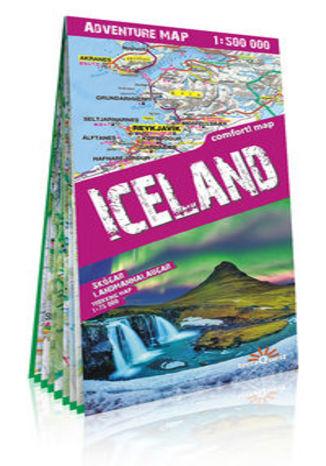 Okładka książki Islandia (Iceland) laminowana mapa samochodowo - turystyczna