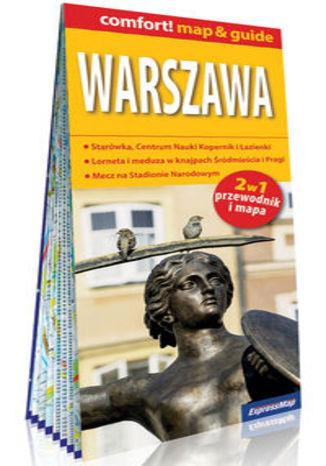 Okładka książki Warszawa 2w1: przewodnik i mapa