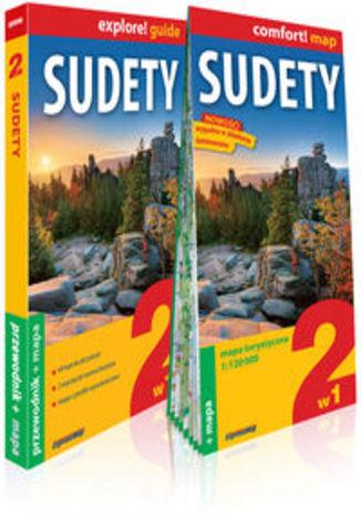 Okładka książki Sudety 2w1 przewodnik + mapa