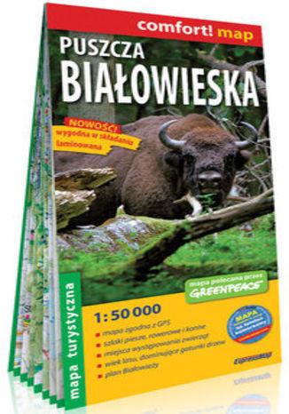 Okładka książki Puszcza Białowieska laminowana mapa turystyczna 1:50 000