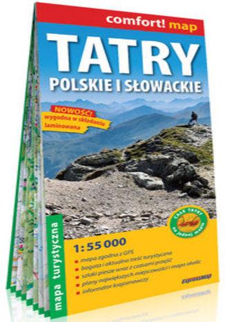 Okładka książki Tatry polskie i słowackie laminowana mapa turystyczna 1:55 000