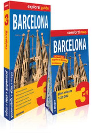 Okładka książki Barcelona 3w1: przewodnik + atlas + mapa