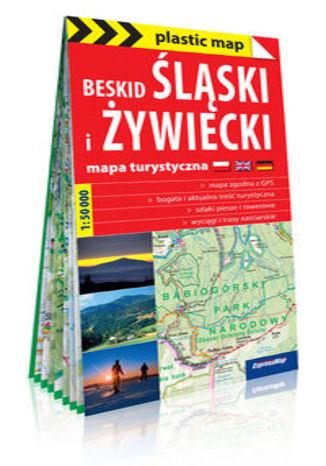 Okładka książki: Beskid Śląski i Żywiecki; foliowana mapa turystyczna 1:50 000