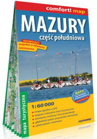Okładka książki Mazury Część południowa laminowana mapa turystyczna 1:60 000