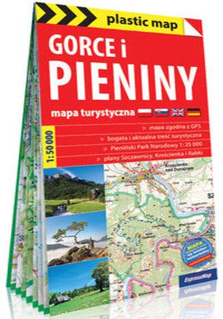 Okładka książki Gorce i Pieniny foliowana mapa turystyczna 1:50 000