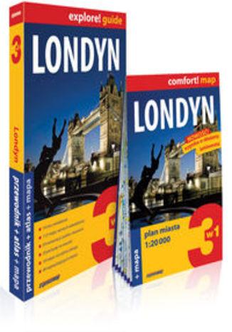 Okładka książki Londyn 3w1 przewodnik + atlas + mapa