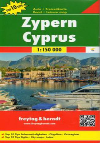 Okładka książki Cypr mapa 1:150 000