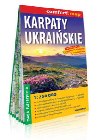 Okładka książki Karpaty Ukraińskie; laminowana mapa turystyczna; 1:250 000