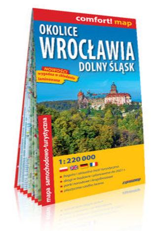 Okładka książki/ebooka Okolice Wrocławia Dolny Śląsk laminowana mapa samochodowo-turystyczna 1:220 000