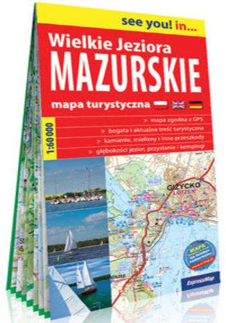 Okładka książki Wielkie Jeziora Mazurskie papierowa mapa turystyczna 1:60 000