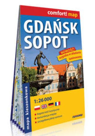 Okładka książki Gdańsk Sopot kieszonkowy laminowany plan miasta 1:26 000