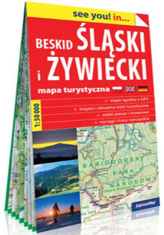 Okładka książki: Beskid Śląski i Żywiecki papierowa mapa turystyczna 1:50 000