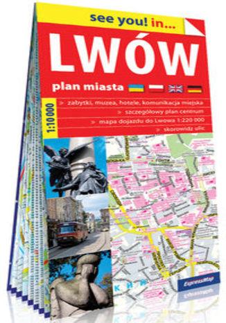 Okładka książki Lwów papierowy plan miasta 1:10 000