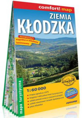 Okładka książki Ziemia Kłodzka laminowana mapa turystyczna 1:60 000