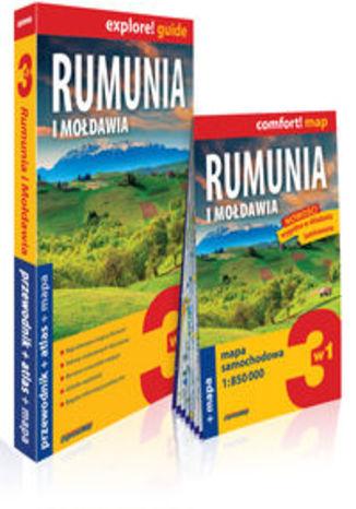 Okładka książki Rumunia 3w1 przewodnik + atlas + mapa