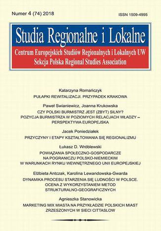 Okładka książki/ebooka Studia Regionalne i Lokalne nr 4(74)/2018