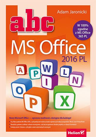 Okładka książki/ebooka ABC MS Office 2016 PL