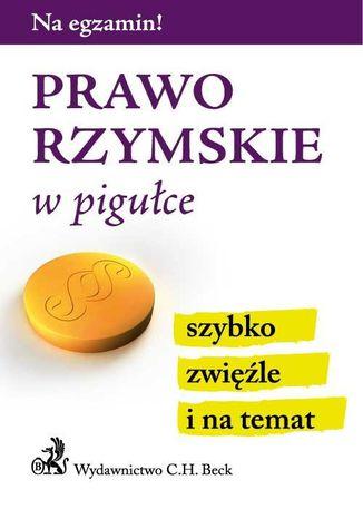 Okładka książki/ebooka Prawo rzymskie w pigułce