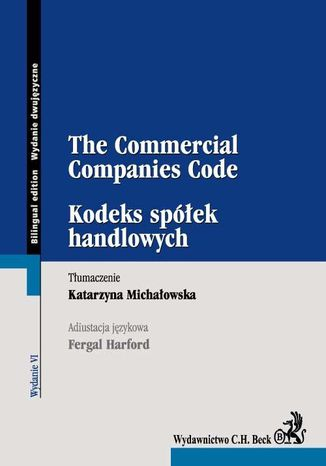 Okładka książki/ebooka Kodeks spółek handlowych The Commercial Companies Code