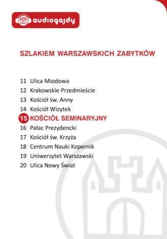 Okładka książki/ebooka Kościół seminaryjny. Szlakiem warszawskich zabytków