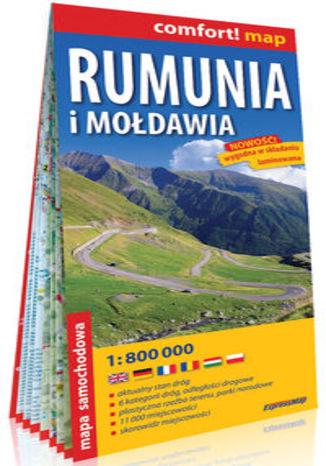 Okładka książki/ebooka Rumunia i Mołdawia laminowana mapa samochodowa 1:800 000