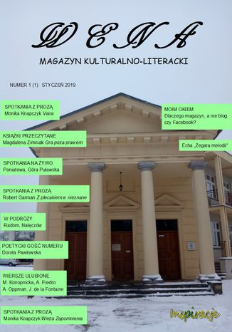 Okładka książki/ebooka Wena - magazyn kulturalno-literacki, nr 1