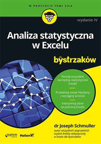Okładka książki Analiza statystyczna w Excelu dla bystrzaków. Wydanie IV