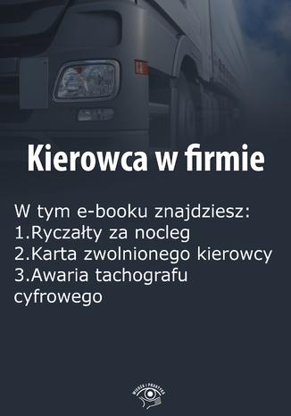 Okładka książki/ebooka Kierowca w firmie, wydanie styczeń 2016 r