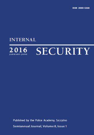 Okładka książki/ebooka Internal Security (January-June) Vol. 8/1/2016
