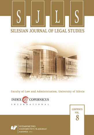 Okładka książki/ebooka Silesian Journal of Legal Studies. Vol. 8