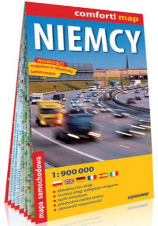 Okładka książki/ebooka Niemcy laminowana mapa samochodowa 1:900 000