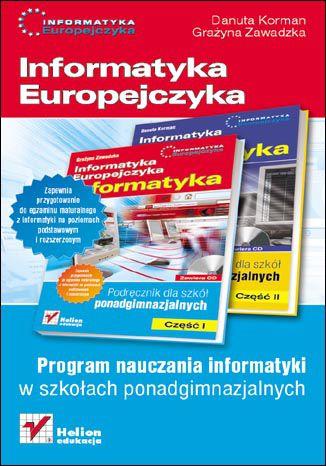 Okładka książki/ebooka Informatyka Europejczyka. Informatyka. Program nauczania dla szkół ponadgimnazjalnych