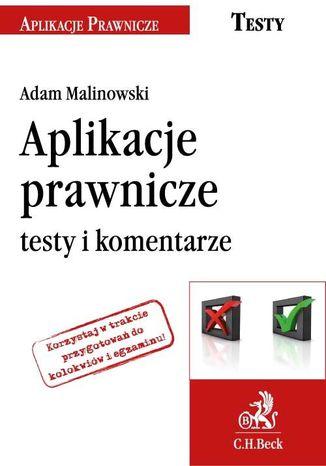 Okładka książki/ebooka Aplikacje prawnicze testy i komentarze