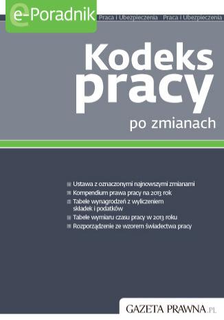 Okładka książki/ebooka Kodeks Pracy